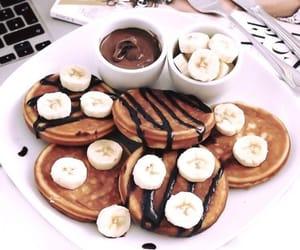 chocolate, pancakes, and banana image