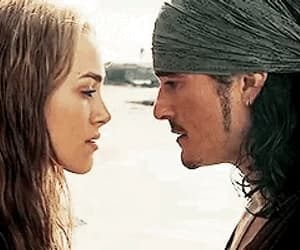 couple, orlando bloom, and elizabeth swann image