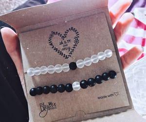 bracelets, couple, and fashion image