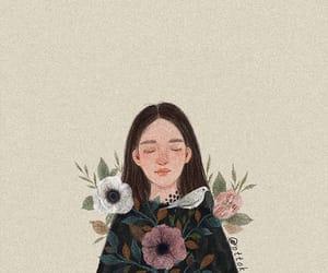 aesthetic, art, and flower girl image