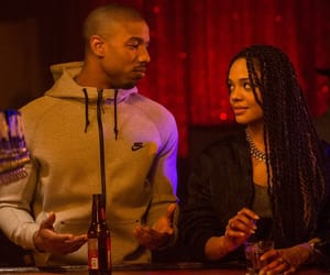 cute guys, tessa thompson, and michael b jordan image