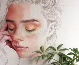 art, pencil, and drawing image