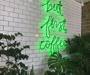 green, aesthetic, and coffee image