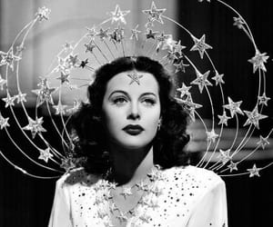 stars, hedy lamarr, and vintage image