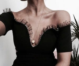 black dress, fashion, and party clothes image