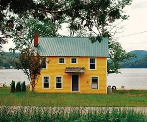yellow, house, and nature image