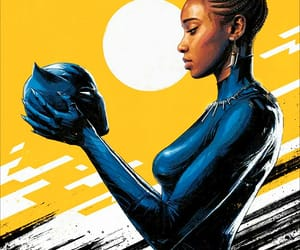 black panther, Marvel, and shuri image