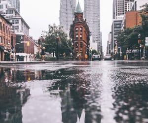 city, photography, and rain image