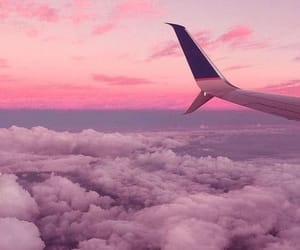 aesthetics, Flying, and plane image