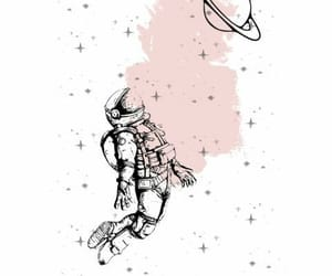 astronauta, galaxia, and wallpapers image