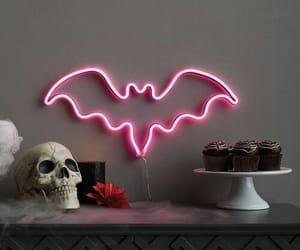 bat, Halloween, and neon image