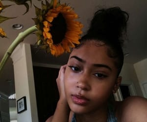 glow, pretty women, and sunflower image