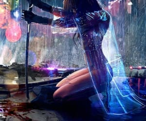 anime, rain, and art image