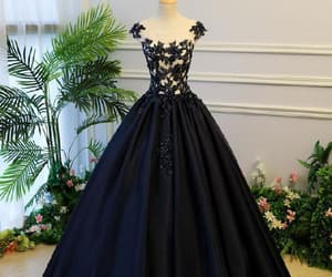navy prom dress, prom dress 2018, and prom dress ball gown image