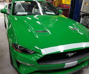 cars, green, and ford mustang image