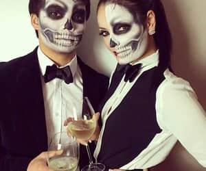 couples, make up, and Halloween image