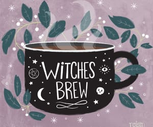 witch, coffee, and brew image