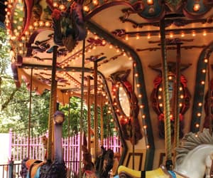 carousel, enchanted forest, and whimsical image