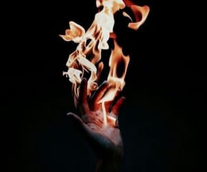 fire, aesthetic, and hand image
