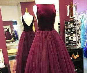 a-line prom dresses, modest prom dresses, and burgundy prom dresses image