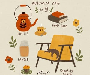 autumn, books, and tea image