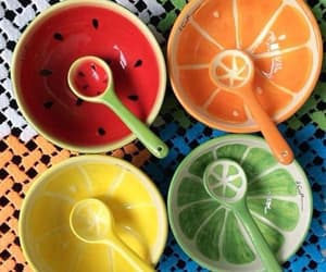 bowl, colors, and fruit image