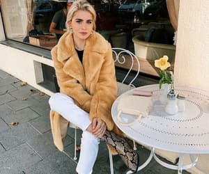 chic, coat, and denim image