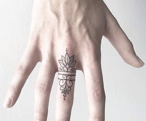 abstract, finger, and tattoo image