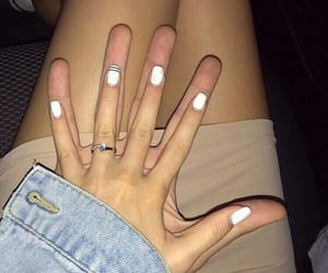 couple, girl, and hands image