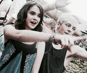 maia mitchell, ross lynch, and best friends filtered image