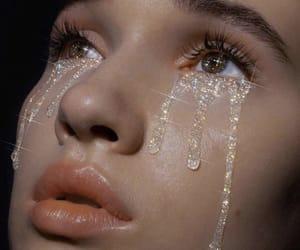 girl, aesthetic, and tears image
