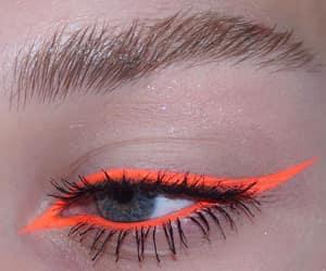 makeup, eye, and orange image
