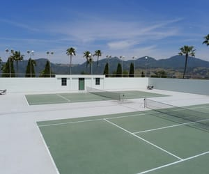 aesthetic, sky, and tennis image