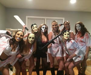 the purge, costume, and Halloween image