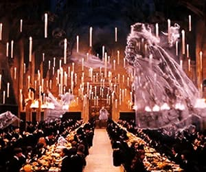 dining room, ghosts, and harry potter image