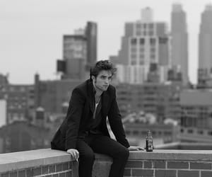 robert pattinson, black and white, and Hot image