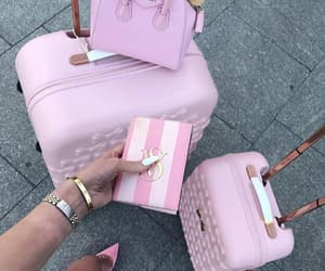 pink, travel, and style image