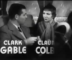 clark gable, gif, and claudette colbert image