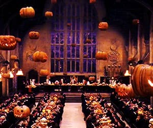 dining room, Halloween, and hogwarts image