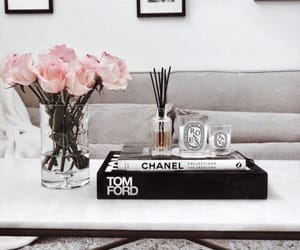 flowers, book, and chanel image