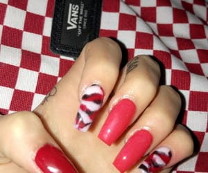 nails, red, and vans image