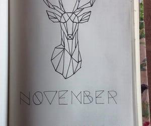 deer, bujo, and geometric image