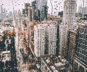 city, rain, and travel image