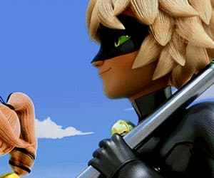 cartoon, Chat Noir, and gif image