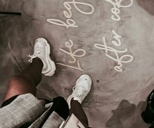 shoes, fashion, and coffee image