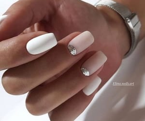 nails, white, and Nude image