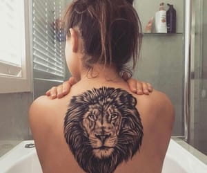 bathroom, colors, and lion image