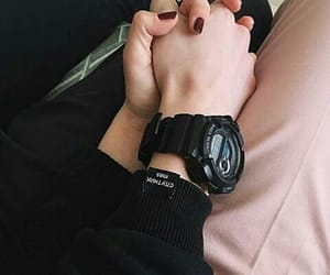 holding hands, romance, and couples image