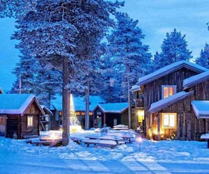 arctic, cabin, and cabins image