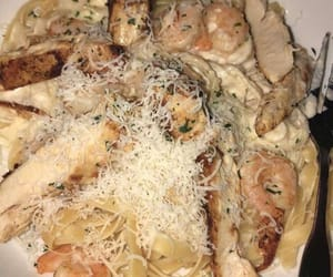 alfredo, food, and italian image
